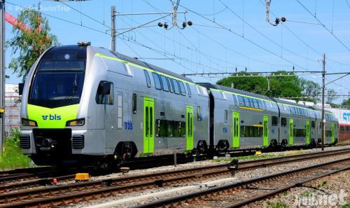 BLS new class 515 EMU at Stadler factory in Erlen, Switzerland